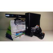 Xbox 360 + 2 Controles + Kinect + 13 Jogos (seminovo)