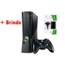 Xbox 360 Slim 4gb Travado + Kit Play Charge ( Semi-novo)