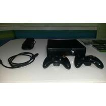 Xbox 360 Usado Com 2 Controles E 4 Jogos Original Travado