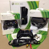 Xbox 360 | 250gb + 2 Controles + Teclado/headset + 28 Jogos