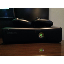 Xbox360slim Travado,320gigas,2controles,com Jogos No Hd