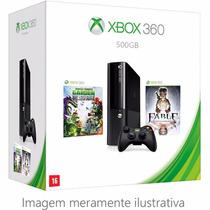Console Xbox 360 Hd 500gb Com Controle Sem Fio Com 2 Jogos