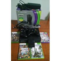 Xbox 360 Bloqueado + 4 Jogos + Hd250gb + Kinect - Semi Novo