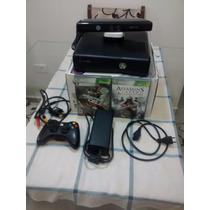 Xbox 360 Slim Com 250 De Hd + Kinect E 4 Jogos