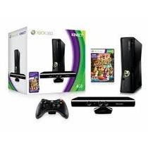 Xbox 360 Slim 4gb Sensor Kinect Hdmi Jogo Game Wifi