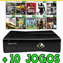Xbox 360 4gb + 10 Jogos+ Frete Grátis