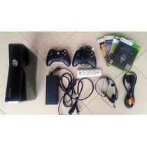 Xbox 360 Slim 250gb + 2 Controles + Skyrim, Saints 3 + Jogos