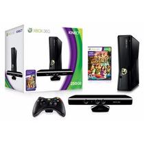 Xbox 360 250gb Com Kinect Controle S/ Fio +5 Jogos Originais