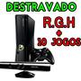 Xbox 360 Slim 4gb + Rgh + Kinect + 10 Jogos + Roda Dvd E Hd