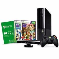 Xbox 360 Superslim 4gb+ Kinect+3 Jogos