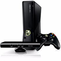 Xbox 360 Slim 4gb + Ltu + Kinect + 10 Jogos + Joga Na Live