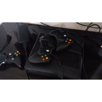 Xbox 360 Slim Completo 4g, Hd 360g + 31 Jogos + 3 Controles