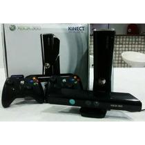 Xbox 360 Black Piano-250gb-kinect-2 Controles-30 Jogos