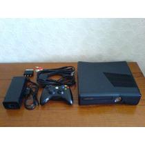 Xbox 360 Slim Destravado+controle Sem Fio(bateria)+kinect+hd