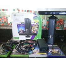 Xbox 360 2g + Kinect + Jogos