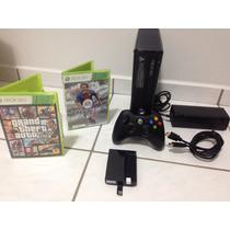Xbox 360 Slim + 320gb + Fifa + Gta V 5 + Hdmi Garantia Loja