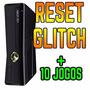 Xbox 360 Slim 4gb Rgh Jtag + 2 Controles +10 Jogos Em Disco.