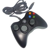 Controle Com Fio Xbox 360 E Pc Slim Joystick Original Feir