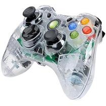 Controle Transparente Com Leds Xbox 360 Pc Fio Original Feir