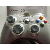 Controle Joystick Xbox 360 Slim Branco Sem Fio Wireless