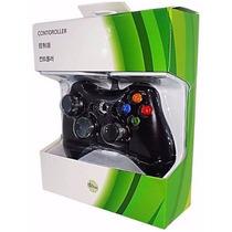 Controle Para Xbox 360 E Pc Com Fio Joystick Emuladores