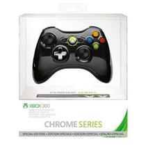Controle Xbox 360 Sem Fio Chrome Series Blackr Preto