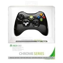 Controle Xbox 360 Wireless Chrome Series Black Preto
