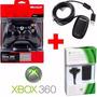 Kit 3 Em 1controle Xbox 360 Sem Fio Microsoft + Brindes