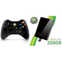 Controle Xbox 360 Wireless Sem Fio Original Feir + Hd 250gb