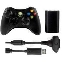 Controle Para Xbox 360 Original Microsof Wireless + Bateria