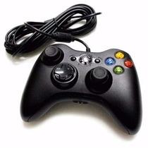Controle Com Fio Xbox 360 Pc Slim 2 Metros Branco Ou Preto