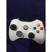 Controle Xbox 360 Sem Fio Original Microsoft Usado (branco)
