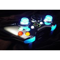 Carcaça Cromada P/ Controle Xbox 360 + Leds + Rapid Fire