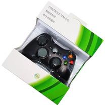 Controle Sem Fio Xbox 360 E Pc Slim Joystick Original Nova!!