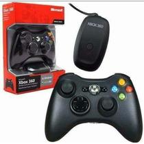 Controle Xbox 360 Sim Fio Wireless Orginal Receiver Usb P/pc