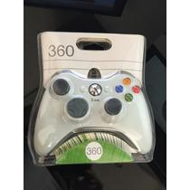 Controle C/ Fio Usb Para Xbox 360 / Pc/ Mac Preto Ou Branco