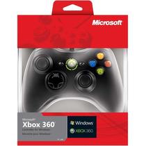 Controle Xbox 360 / Pc Com Fio 100% Original Microsoft