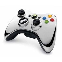 Controle Xbox 360 Chrome Series Prata - Novo- Original