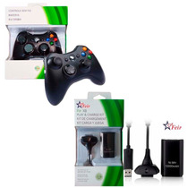 Controle Wireless S/fio P/xbox 360 + Bateria Recarregável