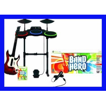 Guitar Hero Xbox 360 Band Hero Kit Completo Guitarra Bateria