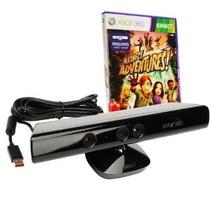 Kinect Original Sensor Xbox 360 + Jogos Adventures E Mais..