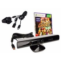 Kinect Sensor Xbox 360 Original,jogo Adventure Adaptador Fat