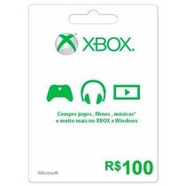 Cartão Microsoft Points Xbox Live De R$100 Envio Imediato