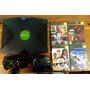 Console Xbox 1º Geração 2 Controles 4 Cds E Hd Com Jogos