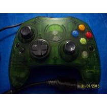 Raro Controle Transparente Verde Xbox 1º Geração Original Ok