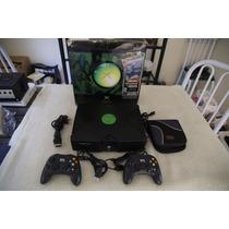 Xbox 1 Clássico Na Caixa + 2 Controles