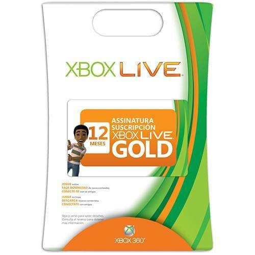 Xbox Live Gold Brasil Br - Cartão 12 Meses 1 Ano Xbox 360