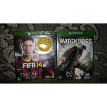 Kit Com 02 Jogos De Xbox One Watchdogs + Fifa 14 Lacrado