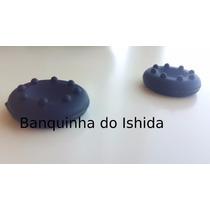 8x Grip Borracha Preto Silicone Botão Ps4 One Ps2 Ps3 Xbox