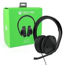 Headset Fone Xbox One Stereo Com Adaptador - Original